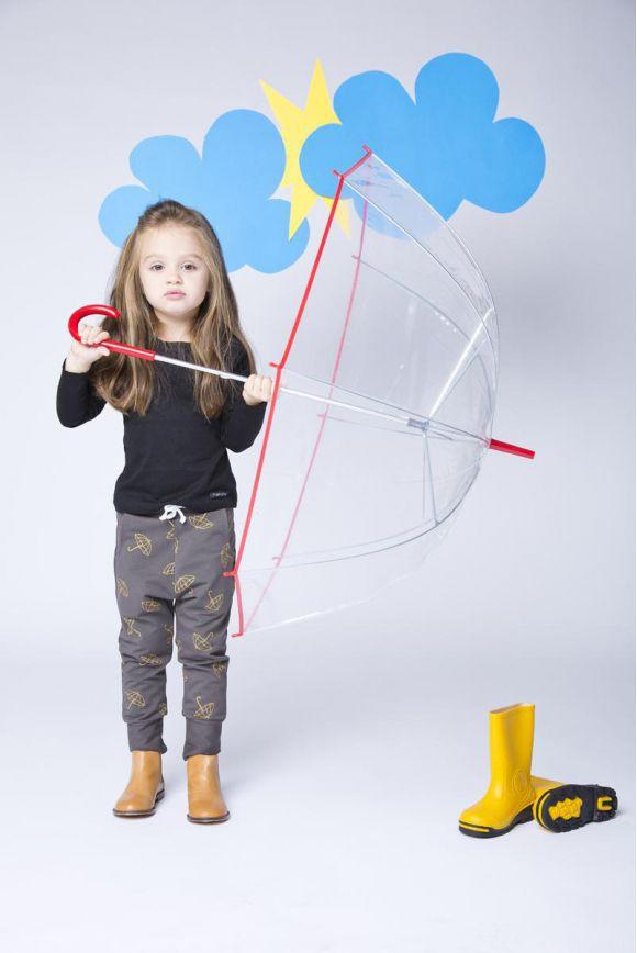 Spodnie dziecięce parasolki