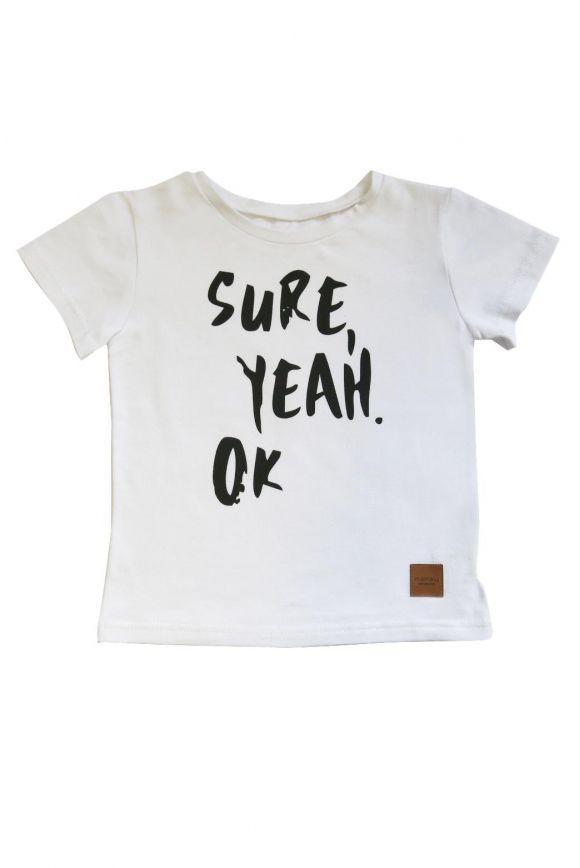 Koszulka szara z białą kieszonką