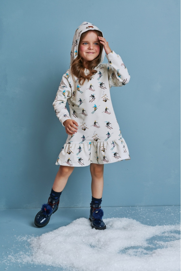 Kids hoodie-dress SKI TEAM