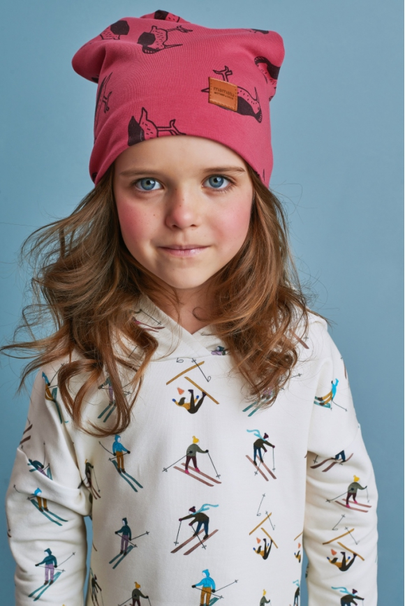Kids cap WOODPECKER red