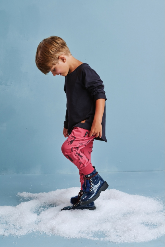 Kids pants WOODPECKER red