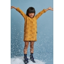 Kids dress TEDDY BEAR mustard