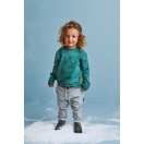 Kids blouse TEDDY BEAR teal