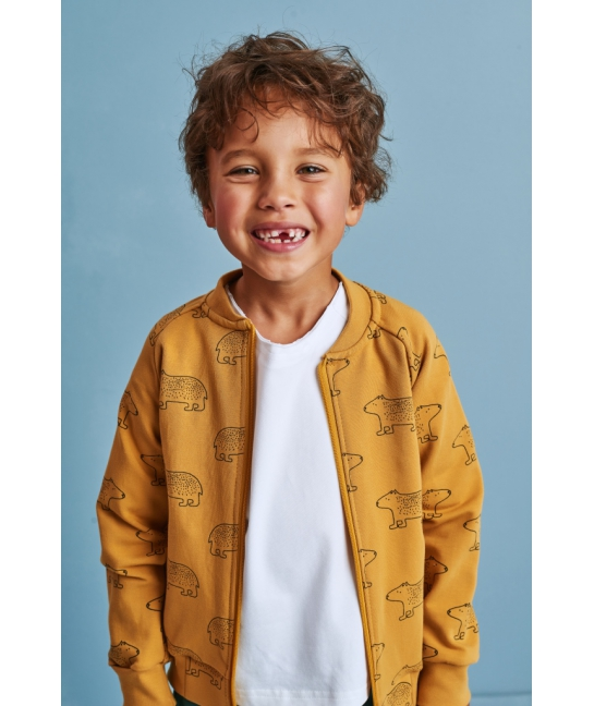 Kids bomber TEDDY BEAR mustard