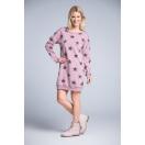 Breastfeeding dress STARS pink