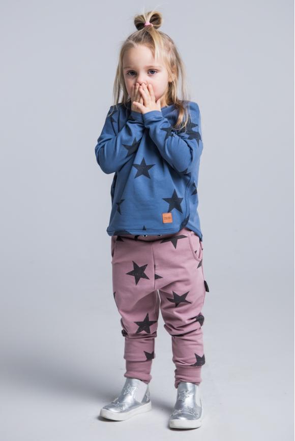 Spodnie dziecięce STARS granatowe