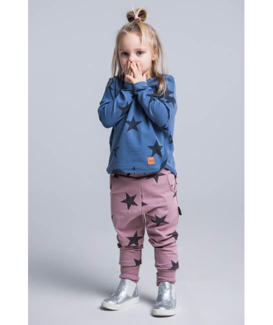 Kids pants STARS Pink