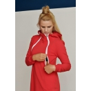 Breastfeeding hoodie-dress RED