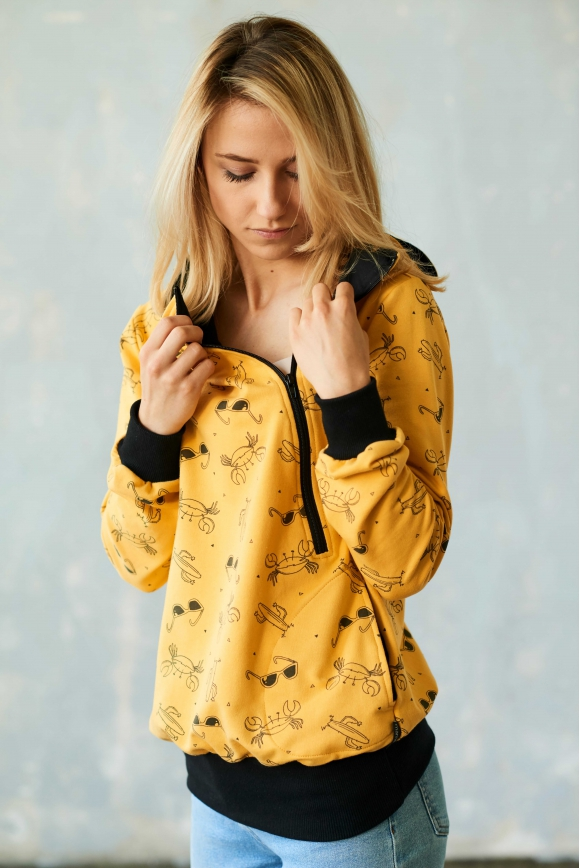 Breastfeeding hoodie SUMMER yelow