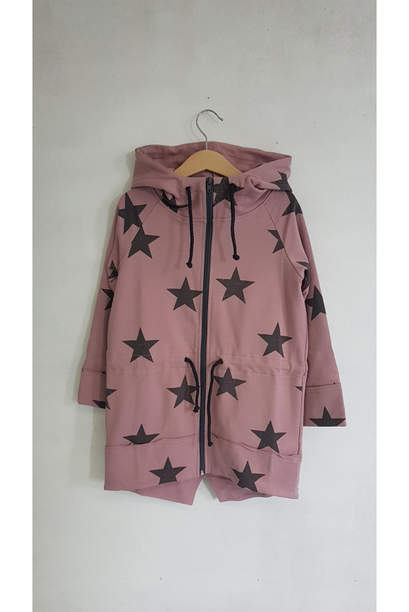 Kids Parka STARS pink