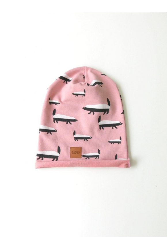 Kids cap BADGER pink