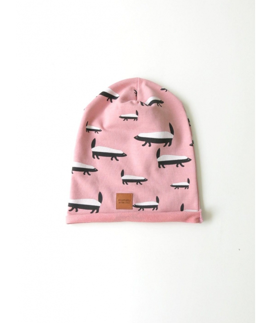 Kids cap BADGER pink