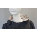 Breastfeeding hoodie GREY zipper