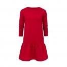 Sukienka do karmienia piersią czerwona z falbanką
