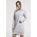 Breastfeeding hoodie-dress MELANGE