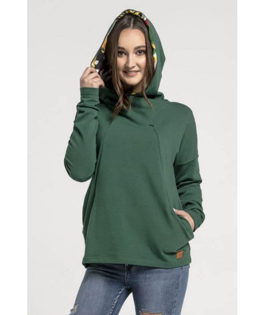 Breastfeeding hoodie GREEN