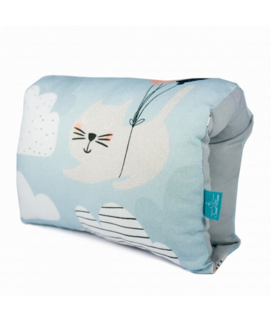 Nursing arm pillow - CATS -blue bamboo