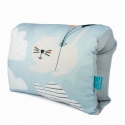 Nursing arm pillow - CATS -blue bamboo