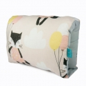 Nursing arm pillow - CATS beige - bamboo