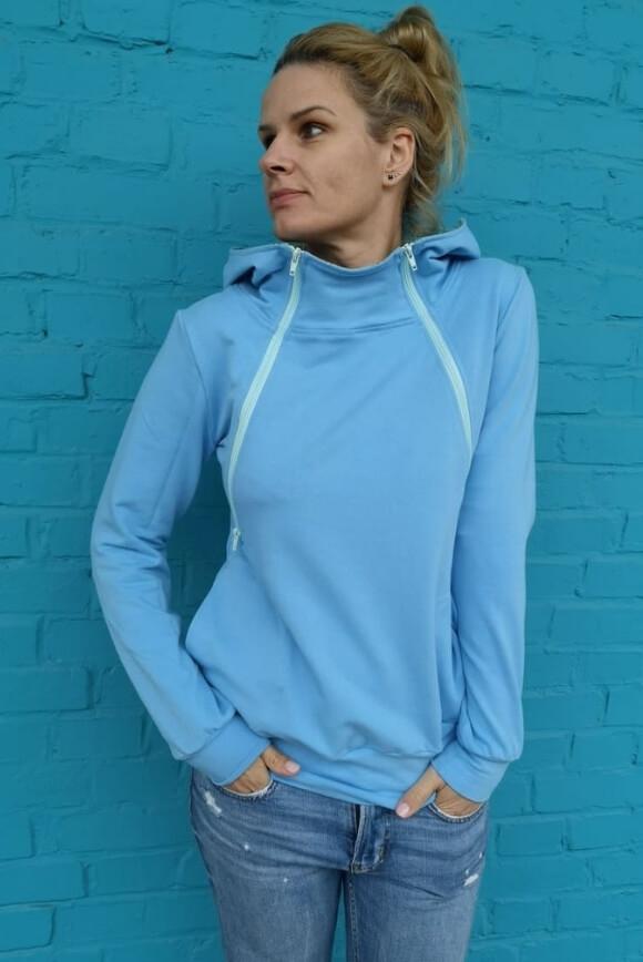 Breastfeeding hoodie BLUE