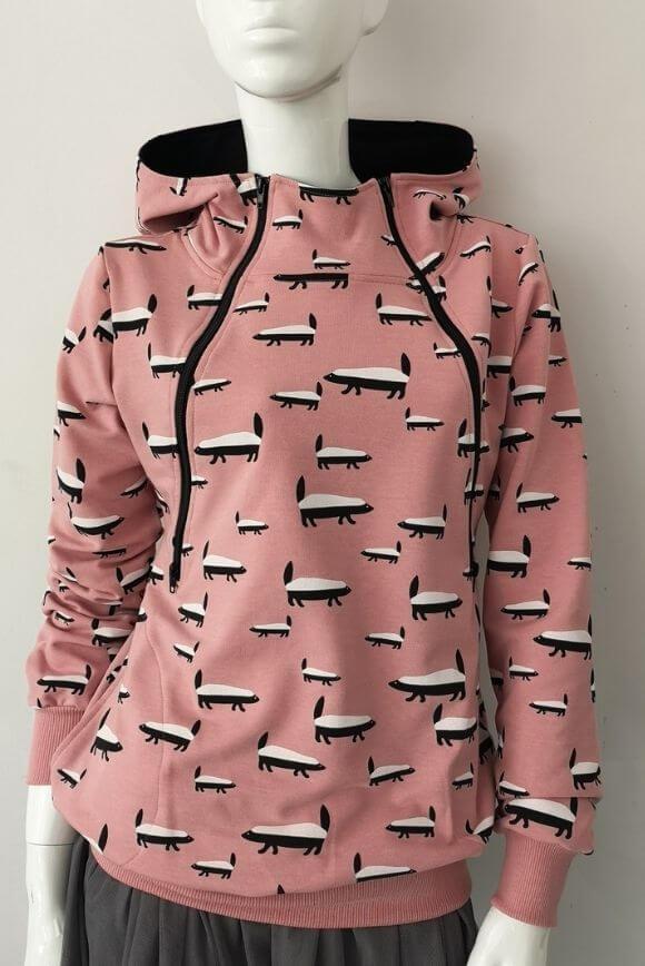 Breastfeeding hoodie BADGER pink