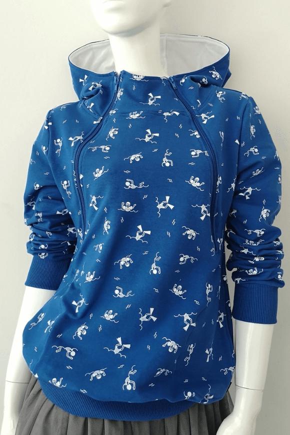 Breastfeeding hoodie SWIMMER