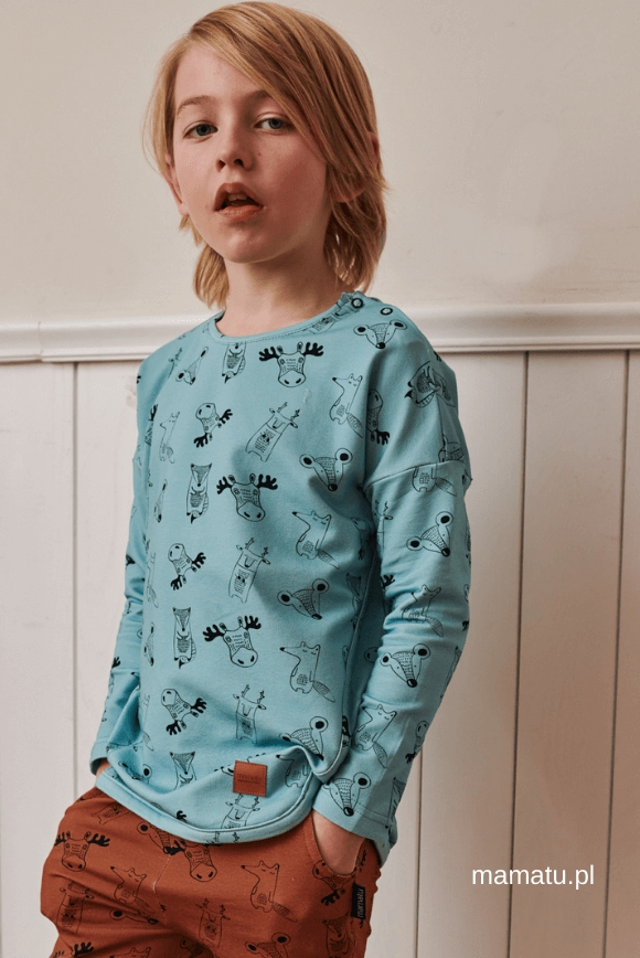 Kids blouse FOREST ANIMALS
