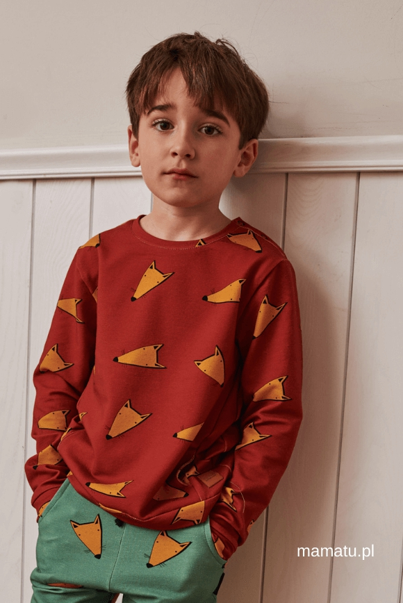 Kids blouse FOX red