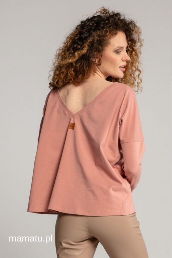 Breastfeeding longsleeve V pink