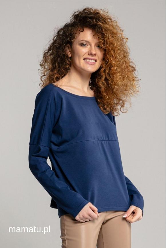 Breastfeeding longsleeve V navy blue