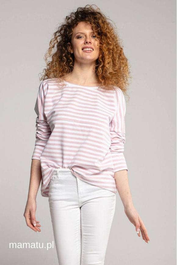 Breastfeeding longsleeve V pink stripes