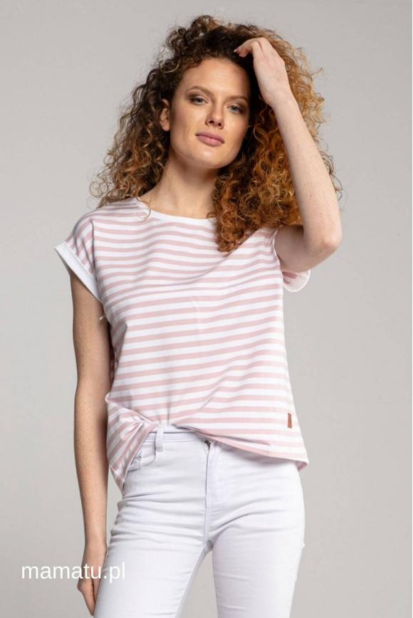 Breastfeeding t-shirt STRIPES pink