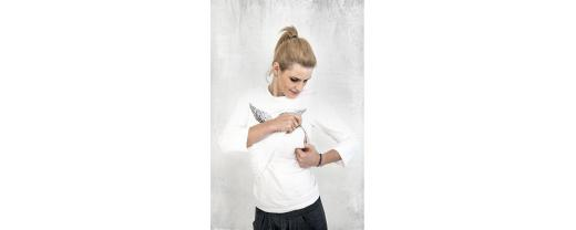 Blouses for breastfeeding – cotton and smart. Fall in love with blouses for nursing mothers in sizes S, M, L and XL!