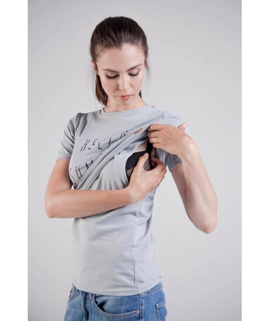 Breastfeeding T-shirts - a solution for nursing mothers. Cotton blouses in large and small sizes!